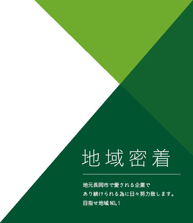 地域密着 地元長岡市で愛される企業であり続けられる為に日々努力致します。目指せ地域NO,1 株式会社ウエグリ